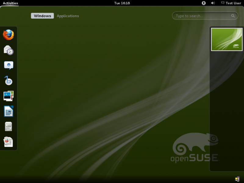openSUSE 12.1 GNOME Desktop