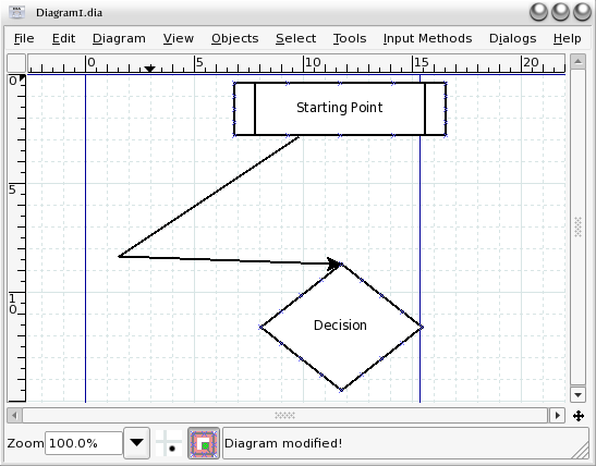 Creating flowcharts with dia linux the source for linux polyline ccuart Images