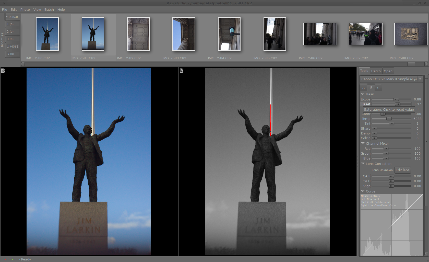 Editing RAW Photos on Linux with Rawstudio 2 0 | Linux com | The