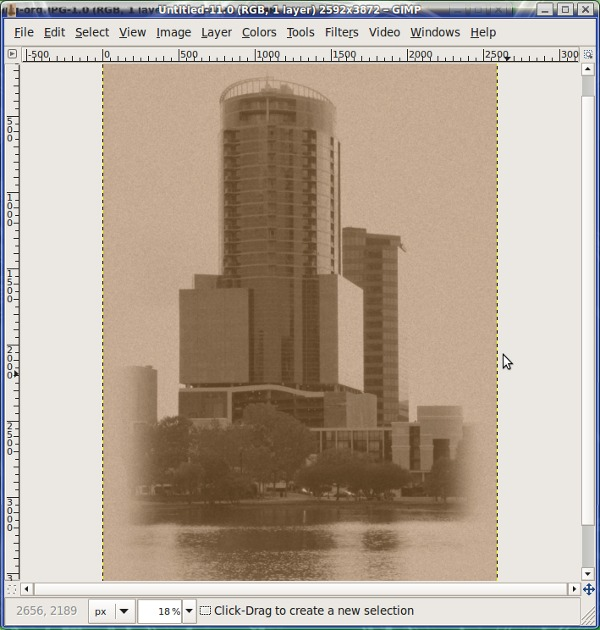 Figure 5: Sepia Tones in GIMP.