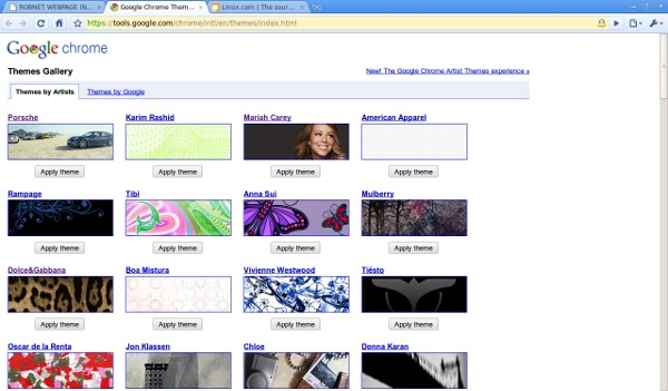 The Chrome Themes Gallery