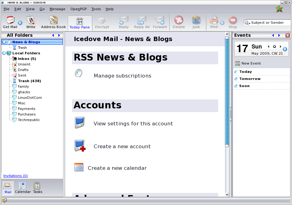 Manage RSS feeds