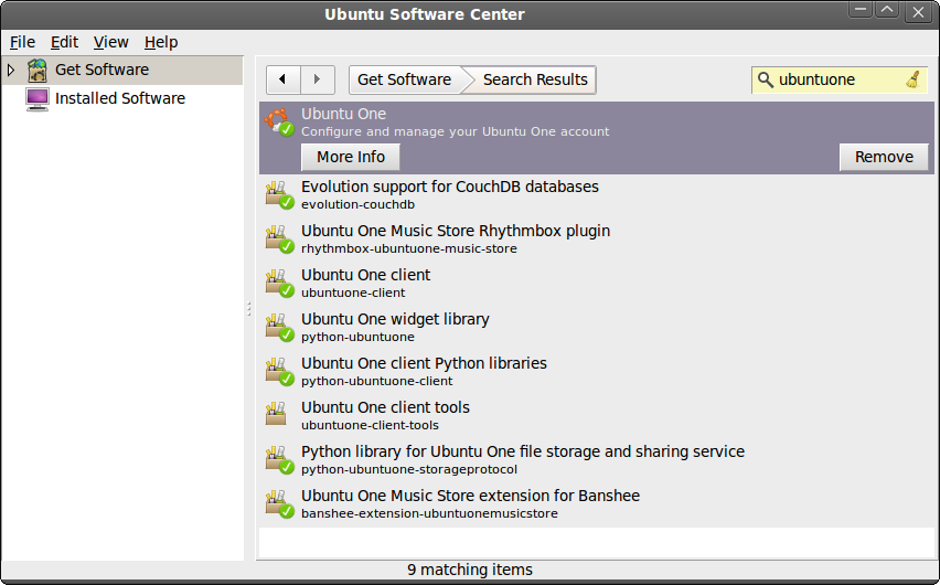 Ubuntu One installation