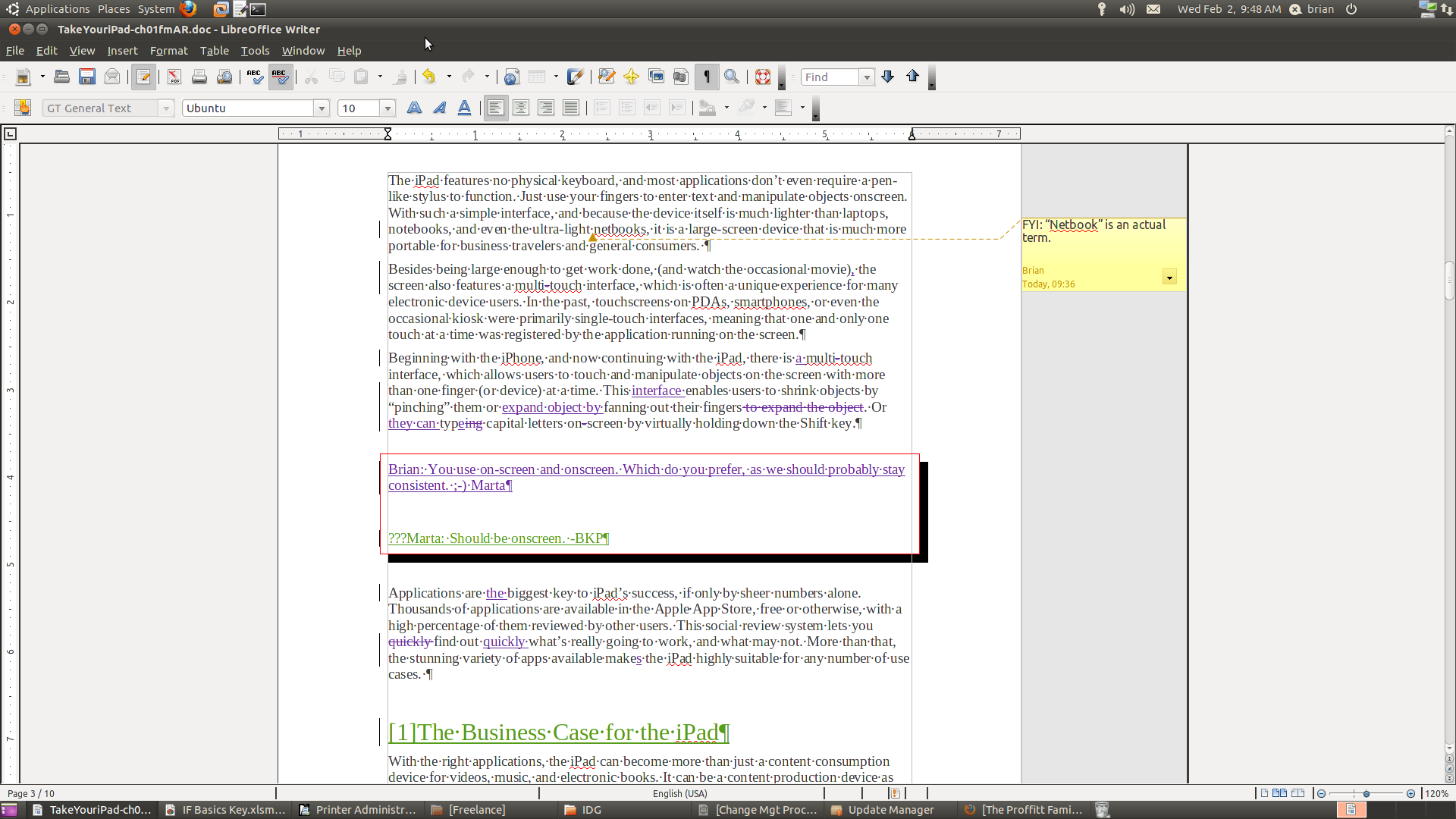 LibreOffice Writer Track Changes