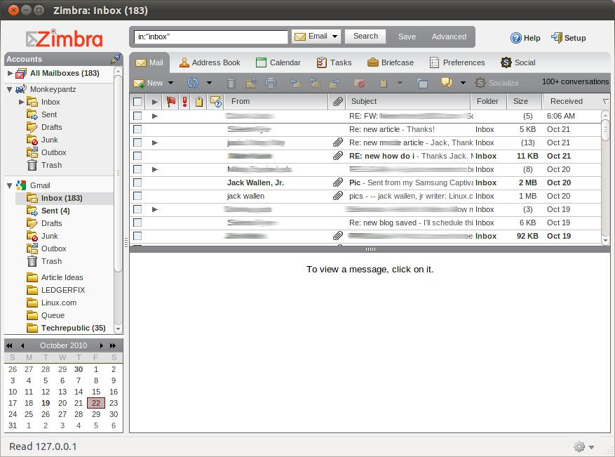 Make the Zimbra Desktop Your Email and Social Desktop