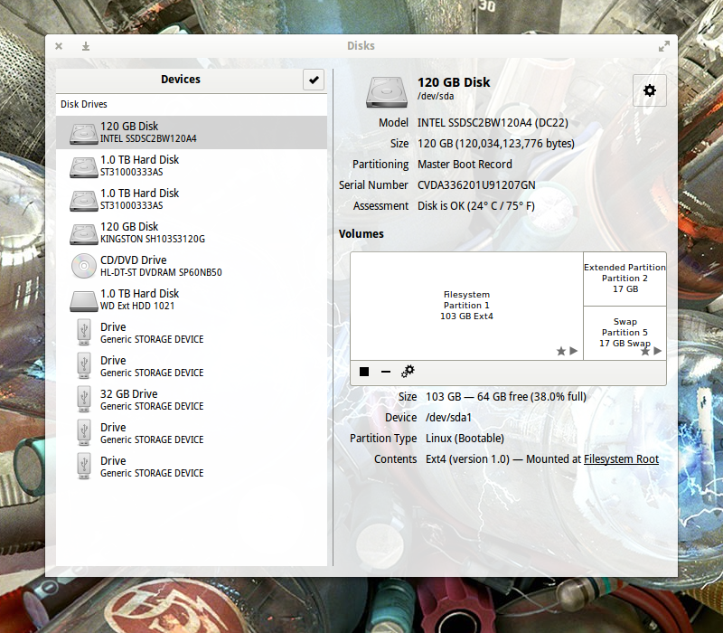 How To Test Solid State Drive Health with GNOME Disks