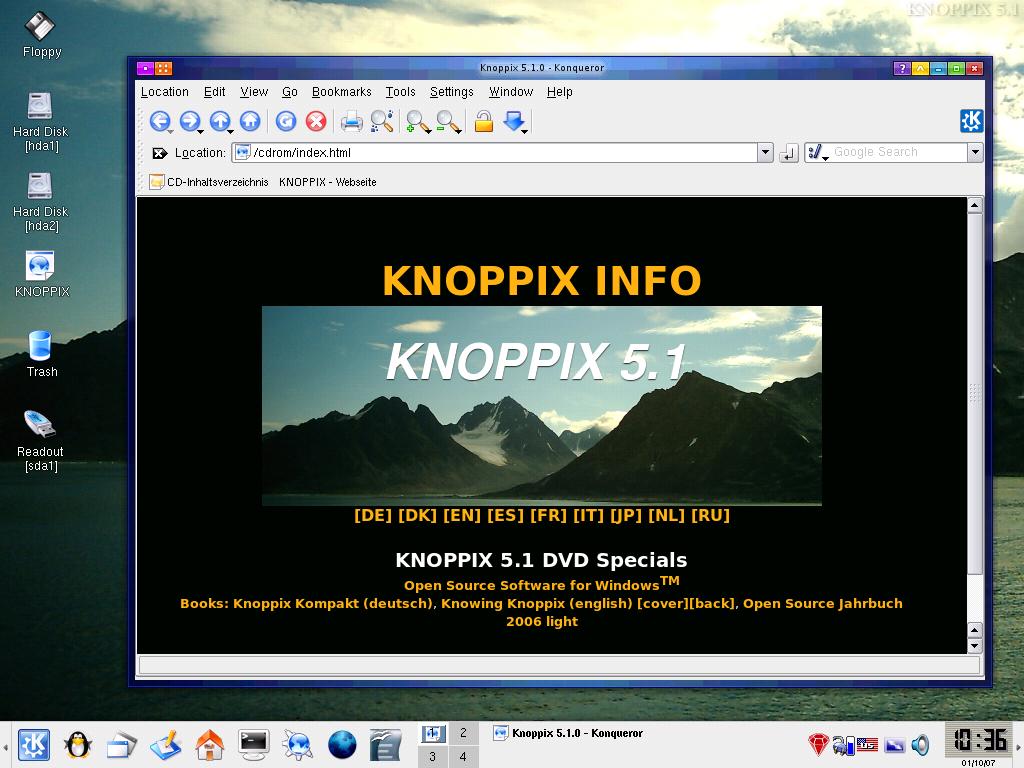 KNOPPIX 5.1.1 LIVE CD TÉLÉCHARGER
