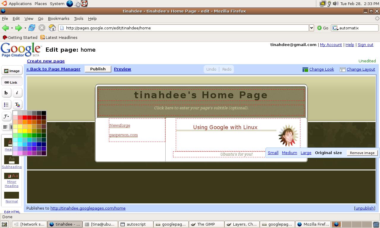 Linux Joomla Template Creator