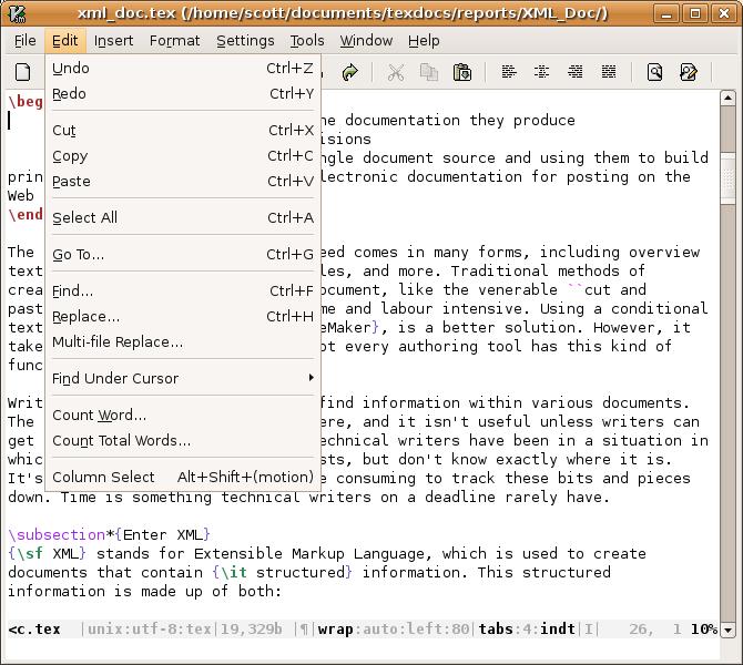 VIM -- VI-style Editor with folding capabilities