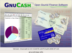 GnuCash splash screen