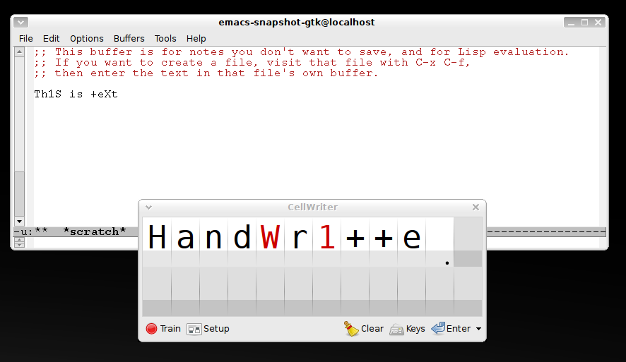 CellWriter: Open source handwriting recognition for Linux