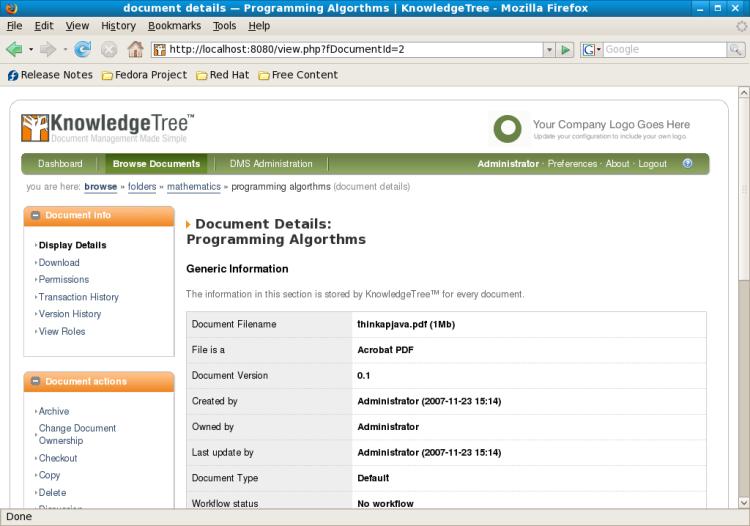 knowledgetree linux