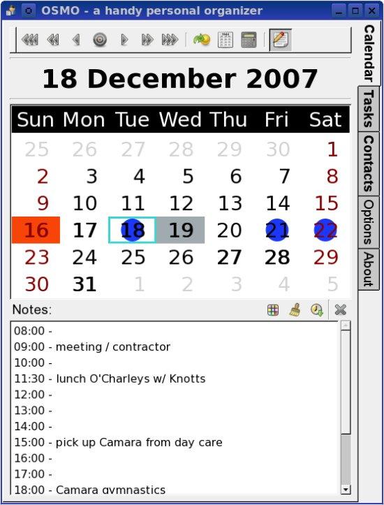 Osmo: A daily organizer - Linux com