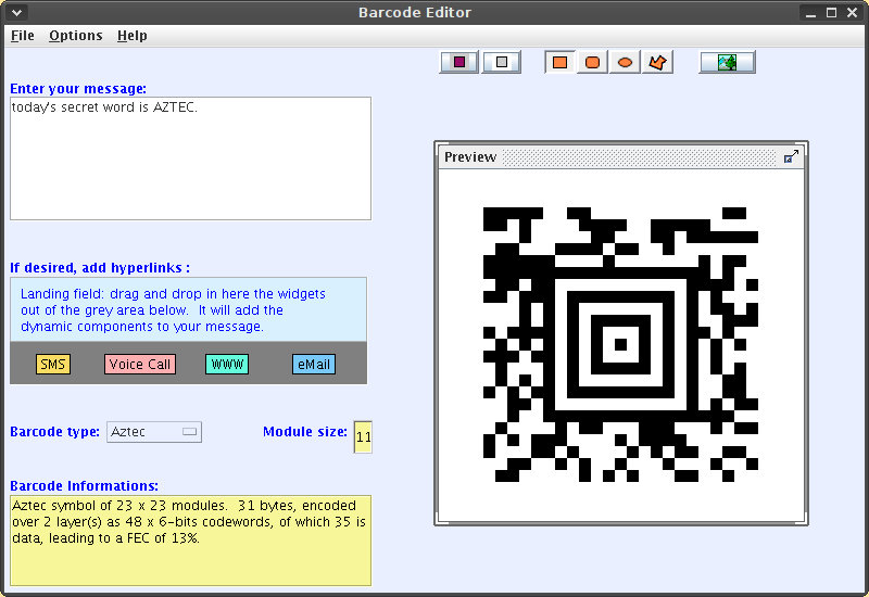 Free software and 2-D barcodes - Linux com