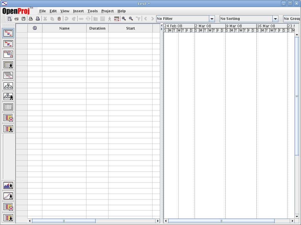 Blank Chart At the blank gantt chart