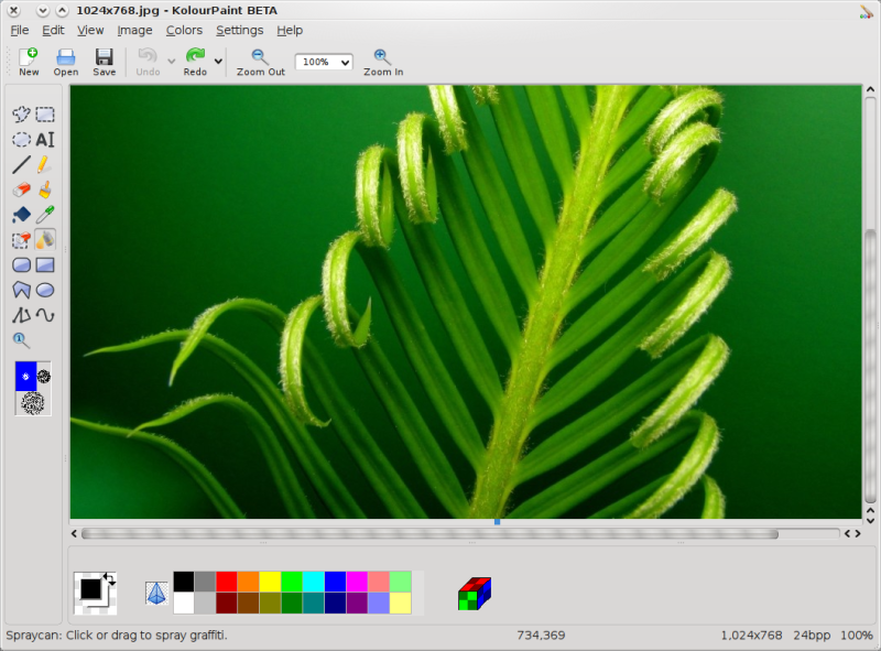 Kolourpaint more than a microsoft paint clone Paint for linux