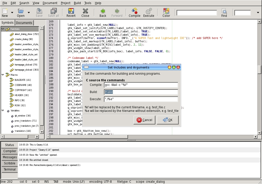 Fast Powerful Geany Editor Offers Ide Features Linux