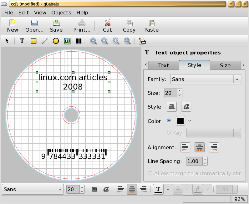 Three applications for making disc labels - Linux com