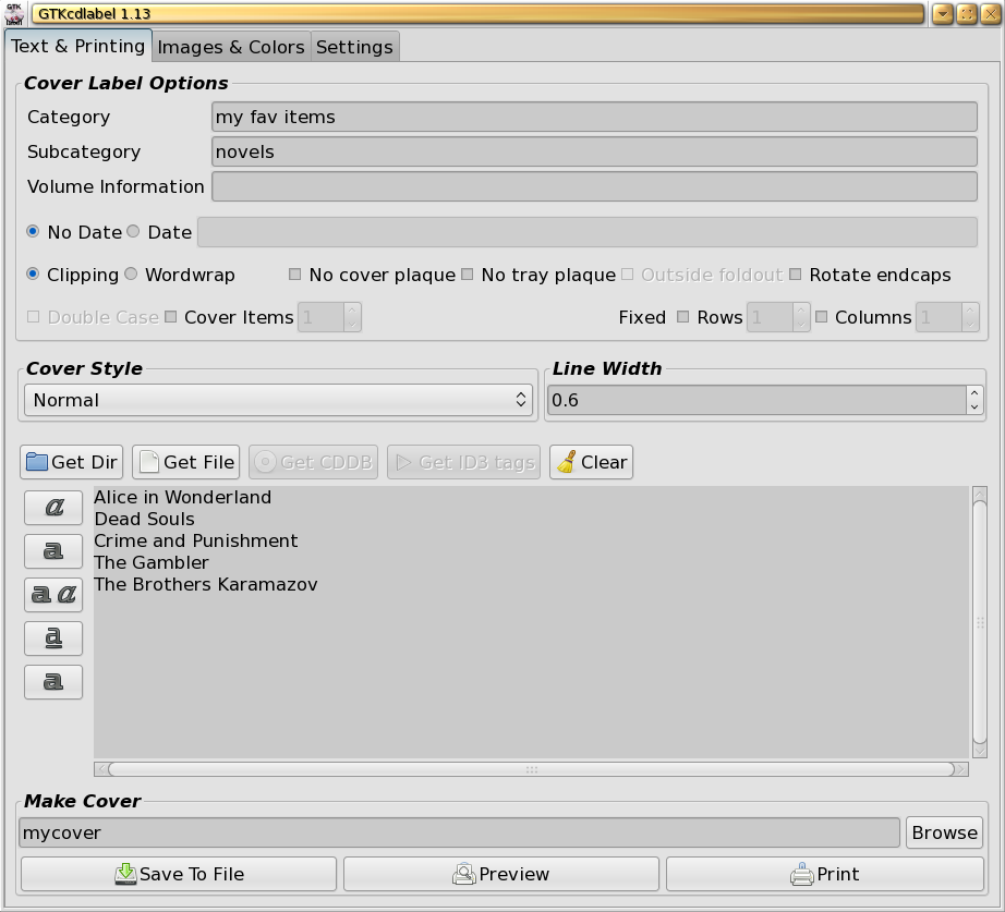 Three applications for making disc labels | Linux com | The