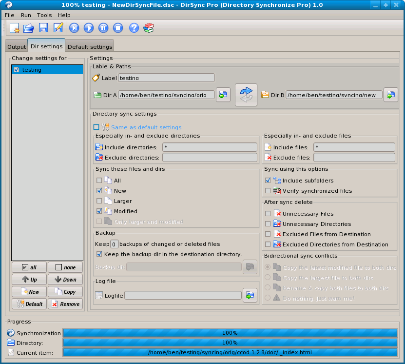 Bidirectional filesystem syncing - DirSync Pro vs  Unison | Linux
